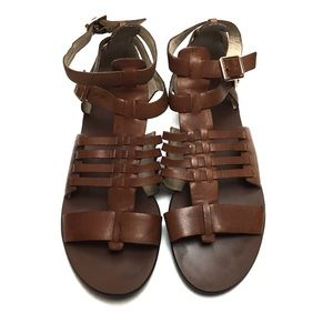 Vince Camuto Jenorra Leather Brown Sandals